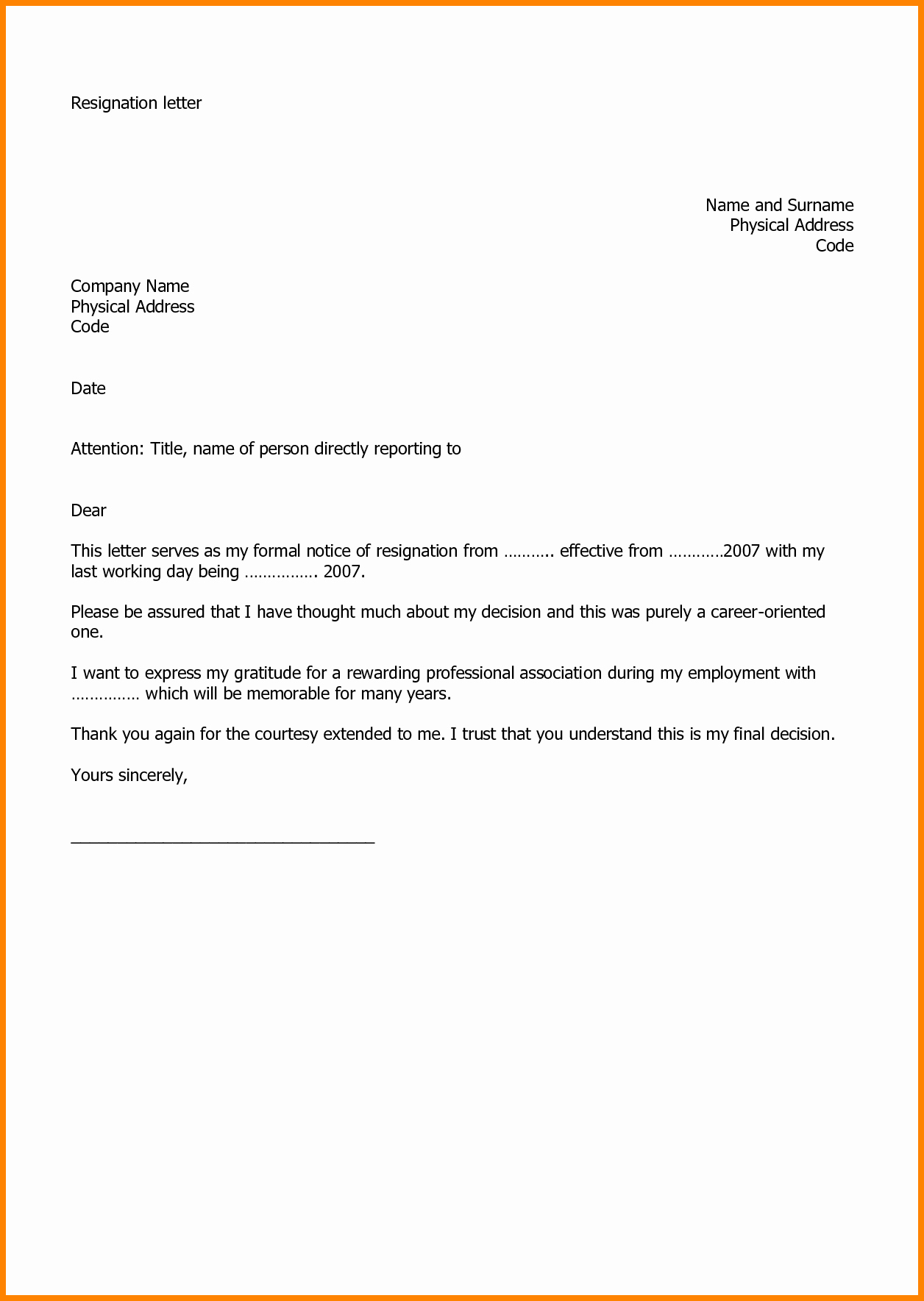 Resign Letter Sample New Pin by Mike Marischler On Health
