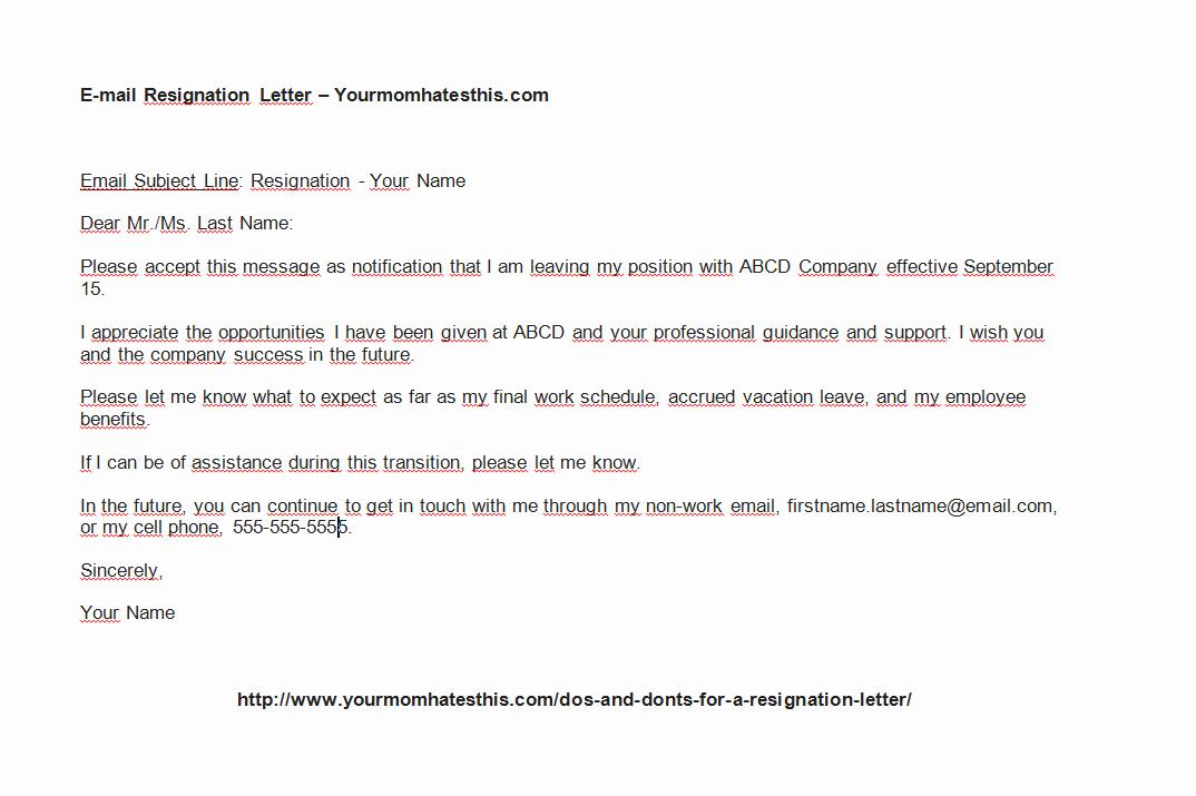 Resign Letter Sample Unique Download Resignation Letter Pdf & Doc