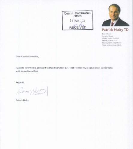 Resign Letter Short Notice Beautiful Here is Patrick Nulty S Very Short Resignation Letter