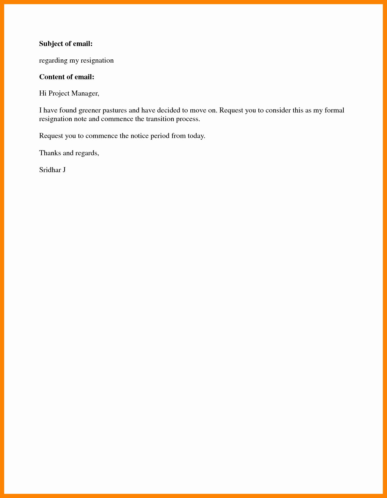 Resign Letter Short Notice Inspirational 7 Resignation Letter Short Notice