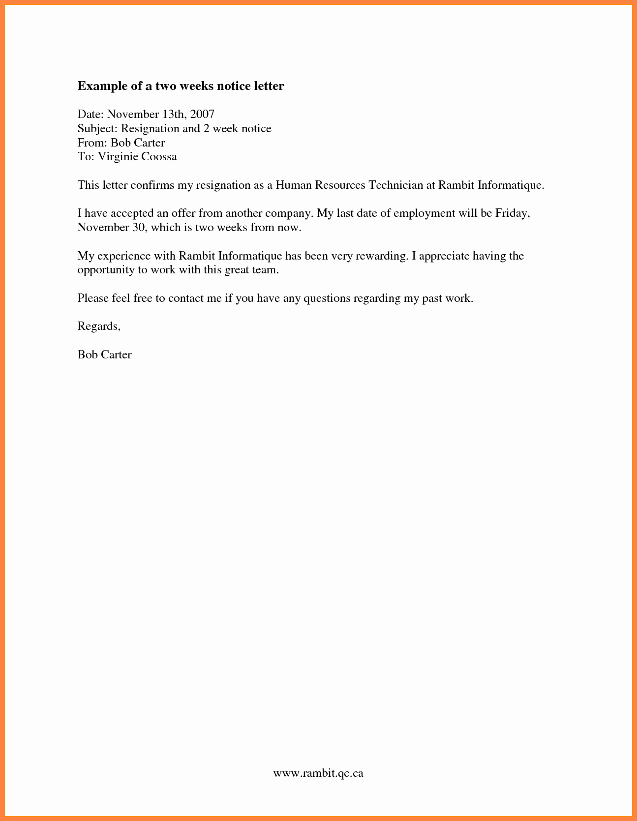 Resignation 2 Weeks Notice Fresh 8 Resignation Letter 2 Week Notice Nurse