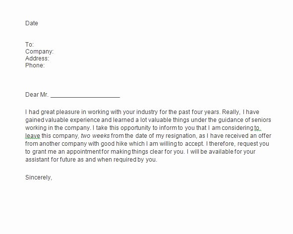Resignation Letter 2 Week Notice Beautiful 40 Two Weeks Notice Letters & Resignation Letter Templates