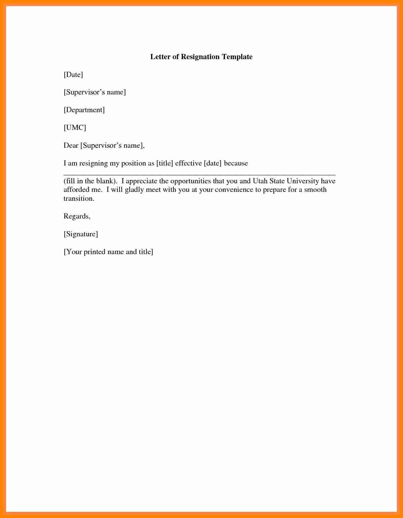 Resignation Letter Effective Immediately Fresh 8 Resignation Letter Effective Immediately