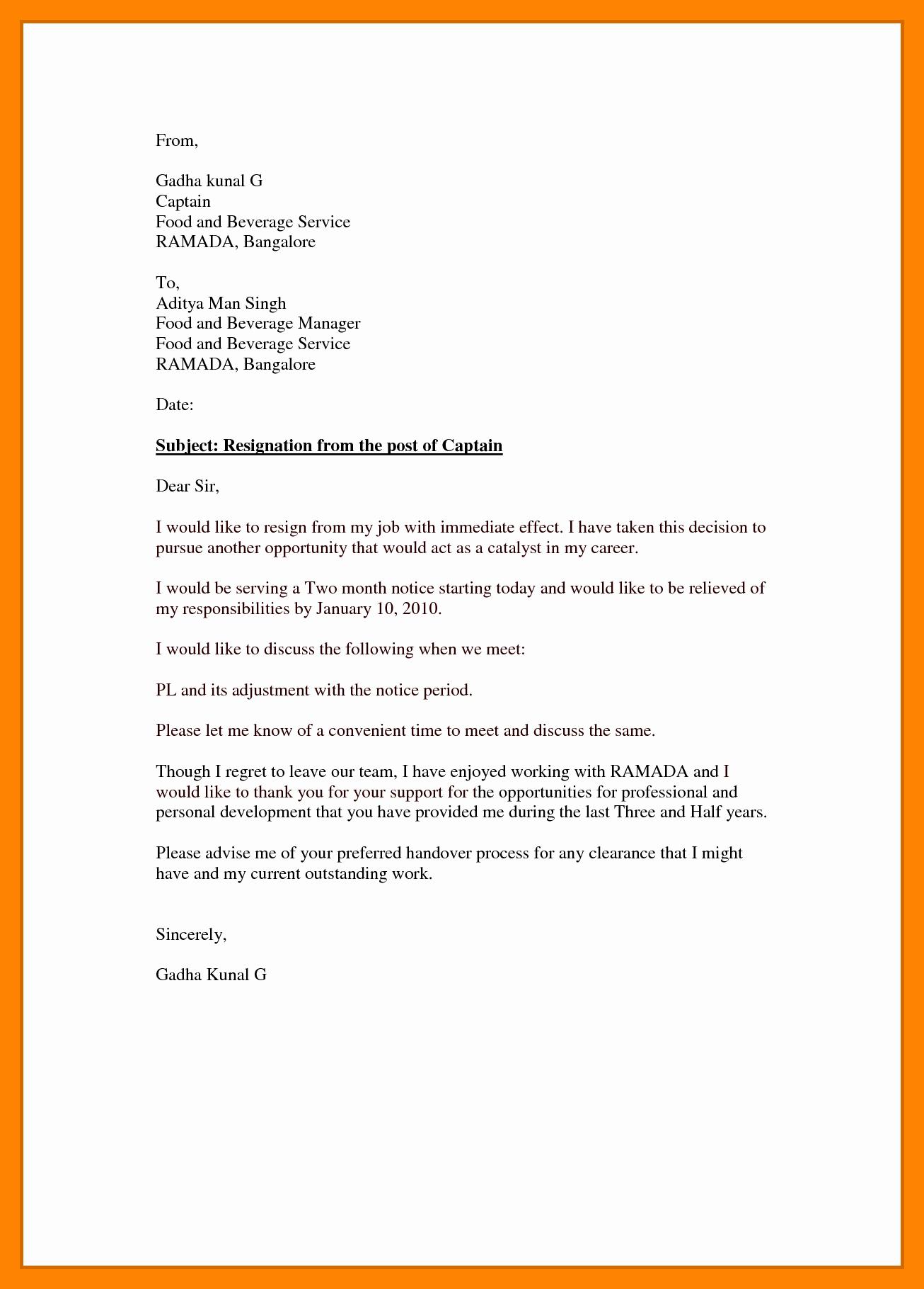 Resignation Letter Effective Immediately Inspirational 5 Resignation Letter Samples Effective Immediately