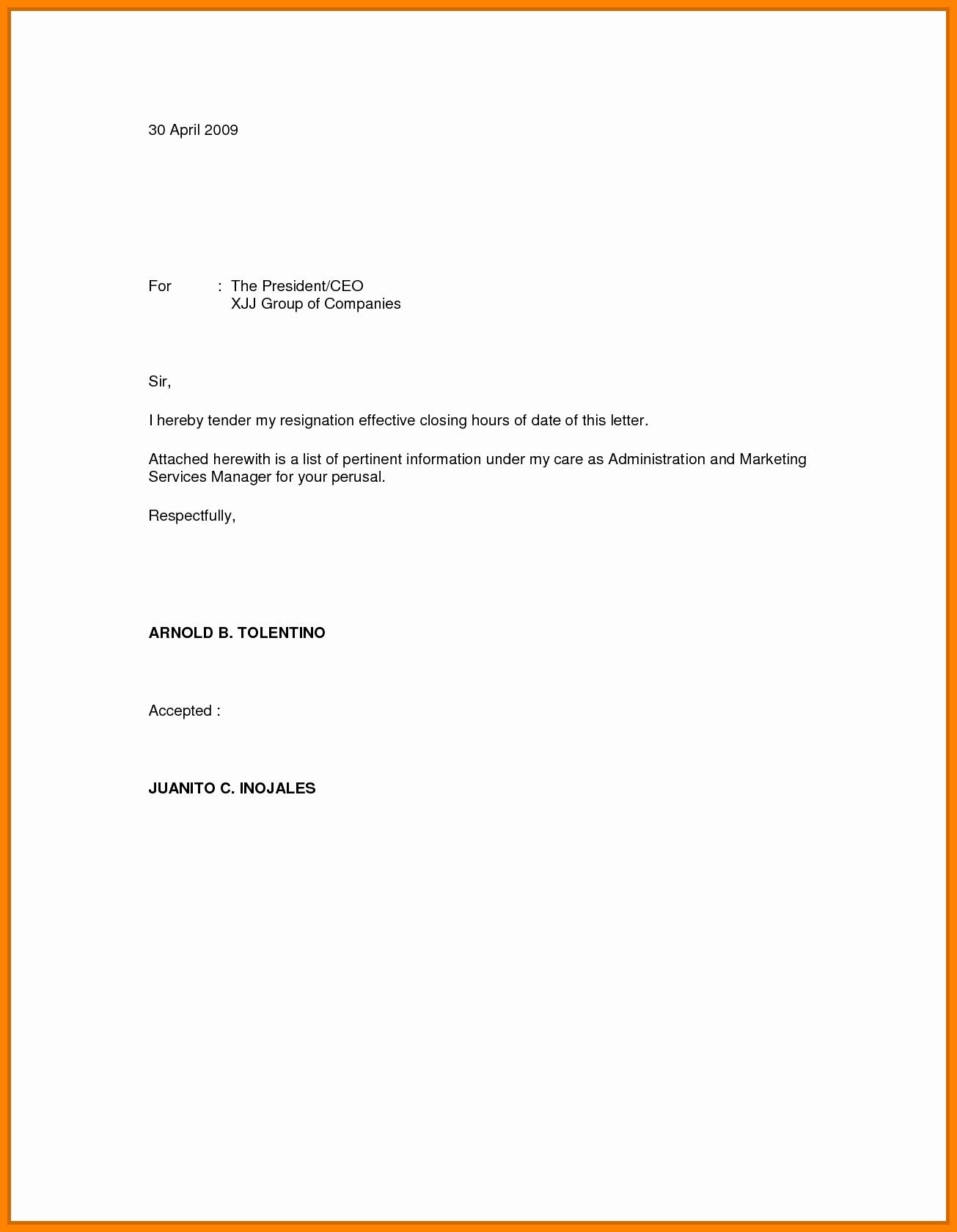 Resignation Letter Effective Immediately Inspirational 7 Effective Immediately Resignation Letter Sample
