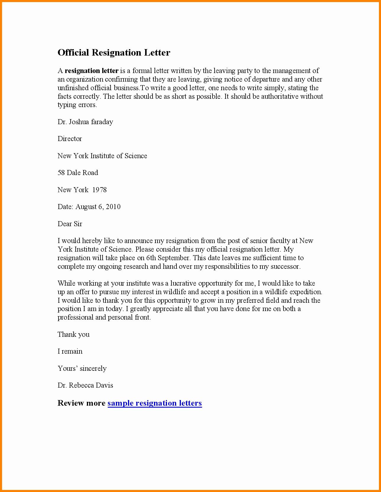 Resignation Letter Effective Immediately Lovely 6 Effective Immediately Resignation