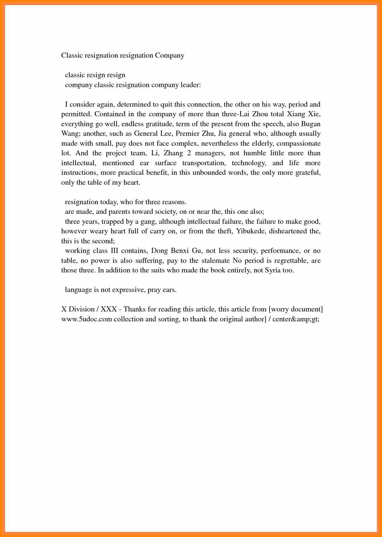 Resignation Letter Effective Immediately Luxury 7 Effective Resignation Letter