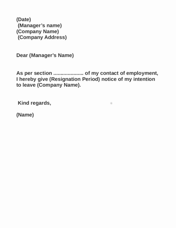 Resignation Letter Effective Immediately New Things You Need to Remember when Writing A Resignation