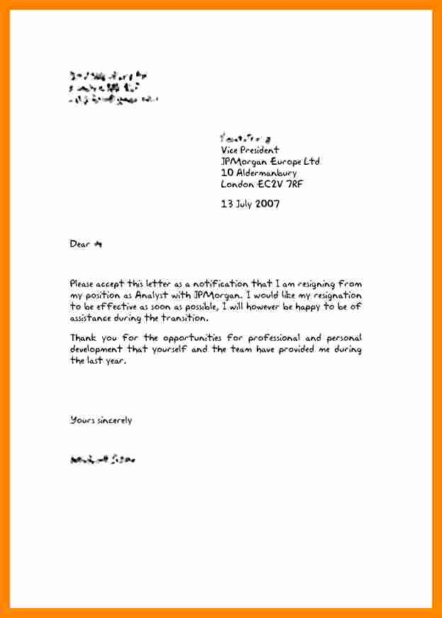 Resignation Letter for Family Reason Elegant 6 Resignation Letter for Family Reasons