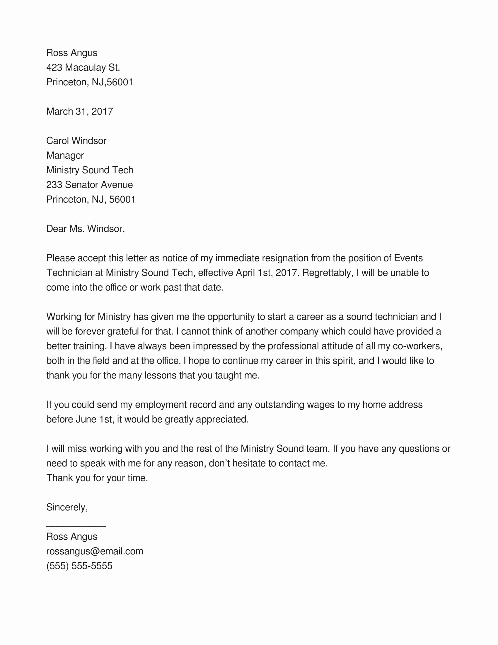 Resignation Letter for Family Reason Elegant 7 Immediate Resignation Letter Examples Pdf Doc