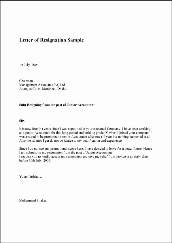 Resignation Letter for Family Reason Lovely 9 Family Reason Resignation Letter for Personal Problem