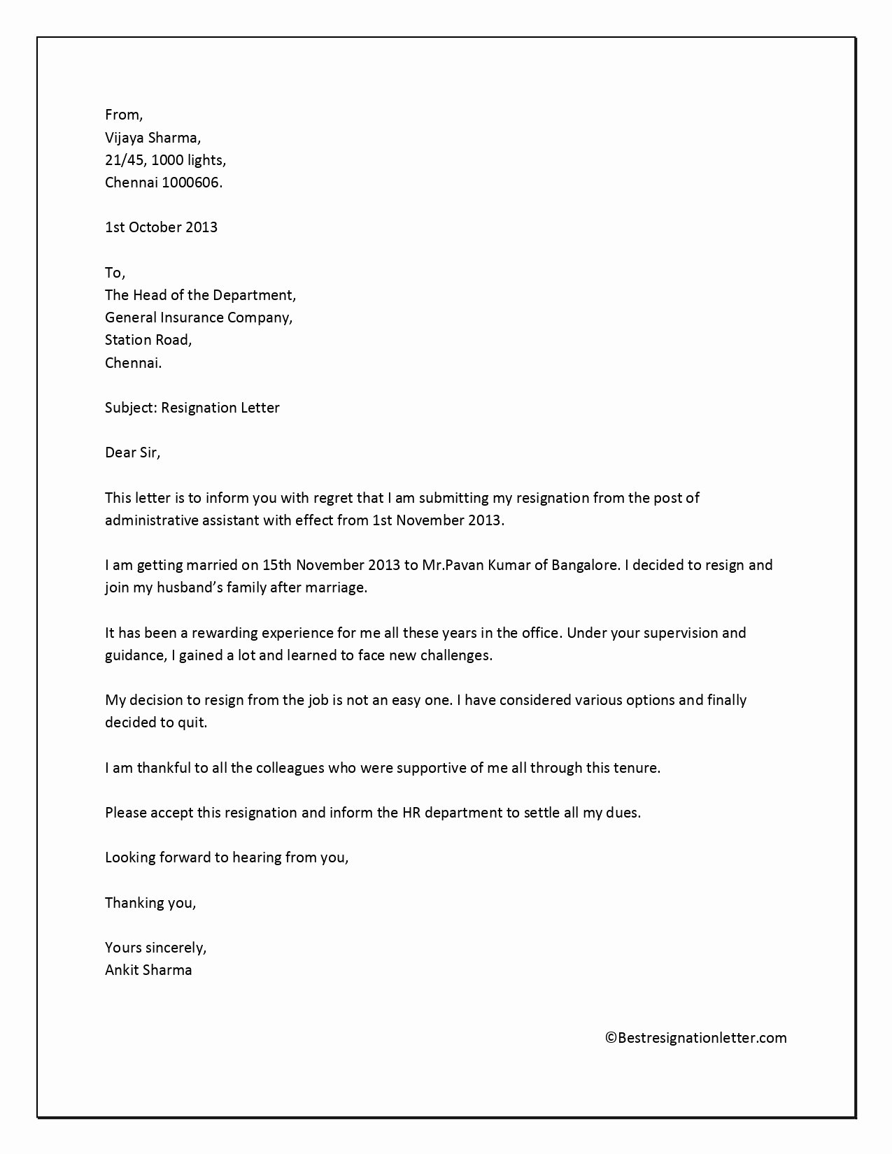 Resignation Letter for Family Reason Luxury 14 Resignation for Personal Reasons