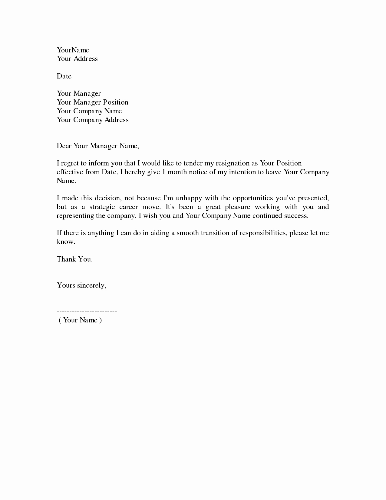 Resignation Letter for Work Awesome Resignation Letters Download Pdf Doc format