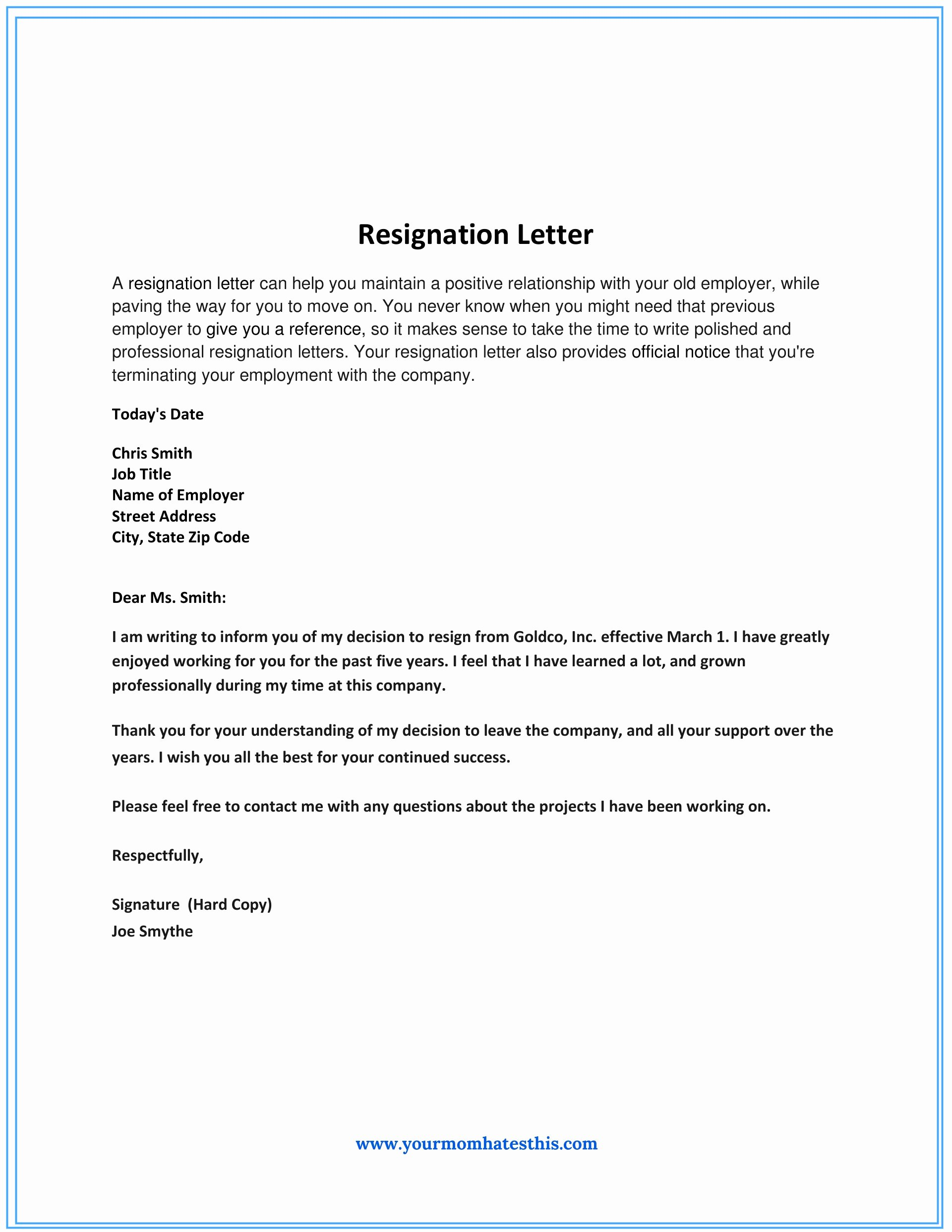 Resignation Letter for Work Elegant Dos and Don'ts for A Resignation Letter