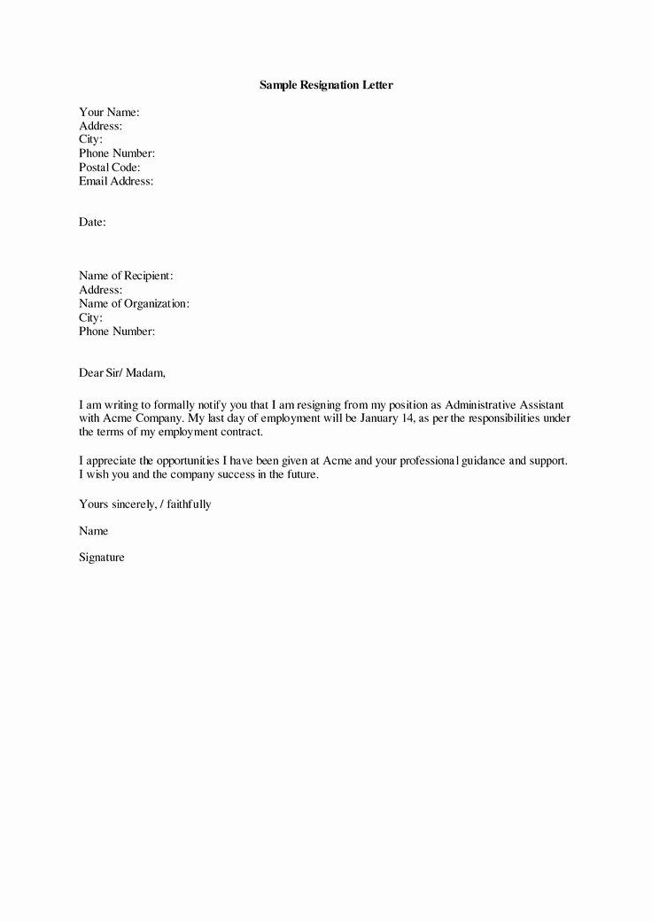Resignation Letter for Work Luxury Best 25 Resignation Letter Ideas On Pinterest