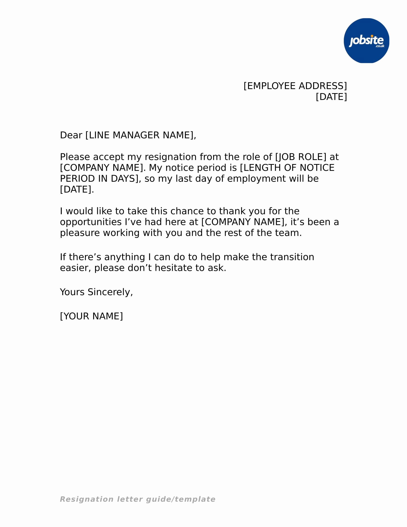 Resignation Letter for Work New 35 Simple Resignation Letter Examples Pdf Word