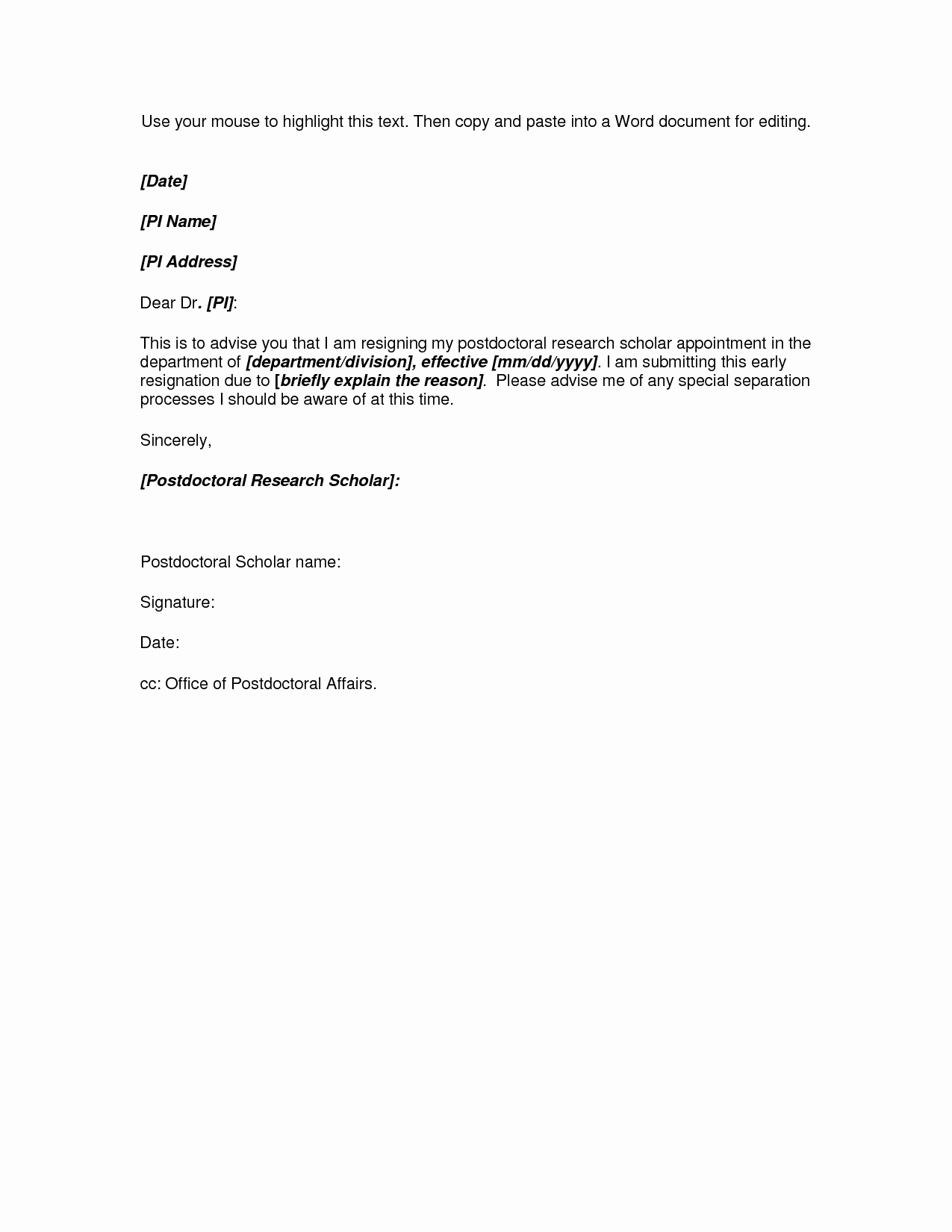Resignation Letter format In Word Awesome Microsoft Word Resignation Letter Template