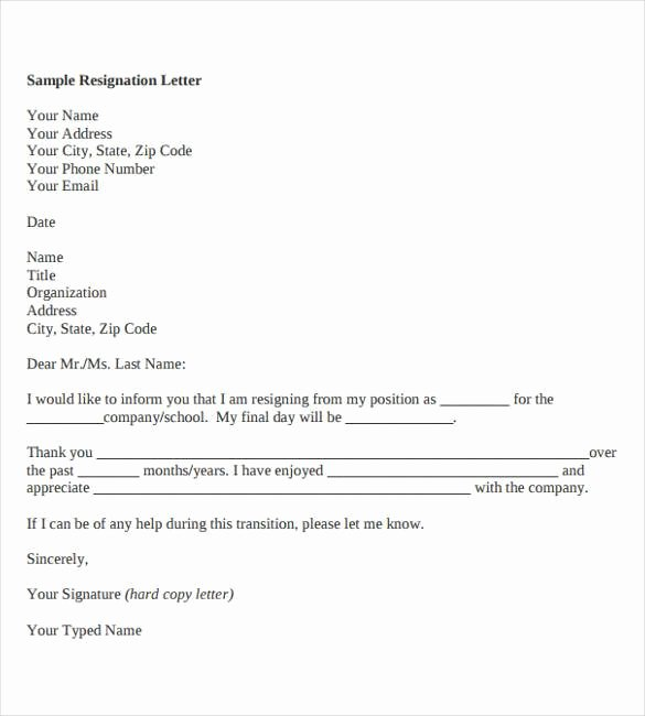 Resignation Letter format In Word Best Of Indian – New Pany Driver