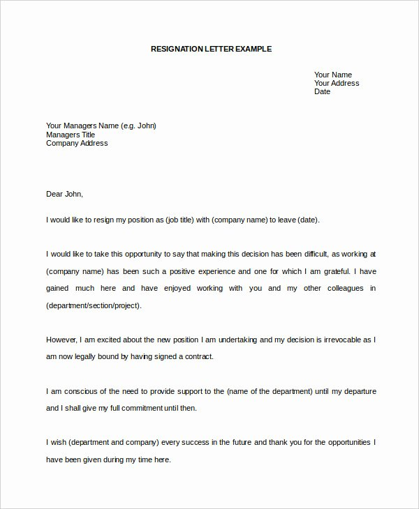 Resignation Letter format In Word Elegant Resignation Letter Template Word