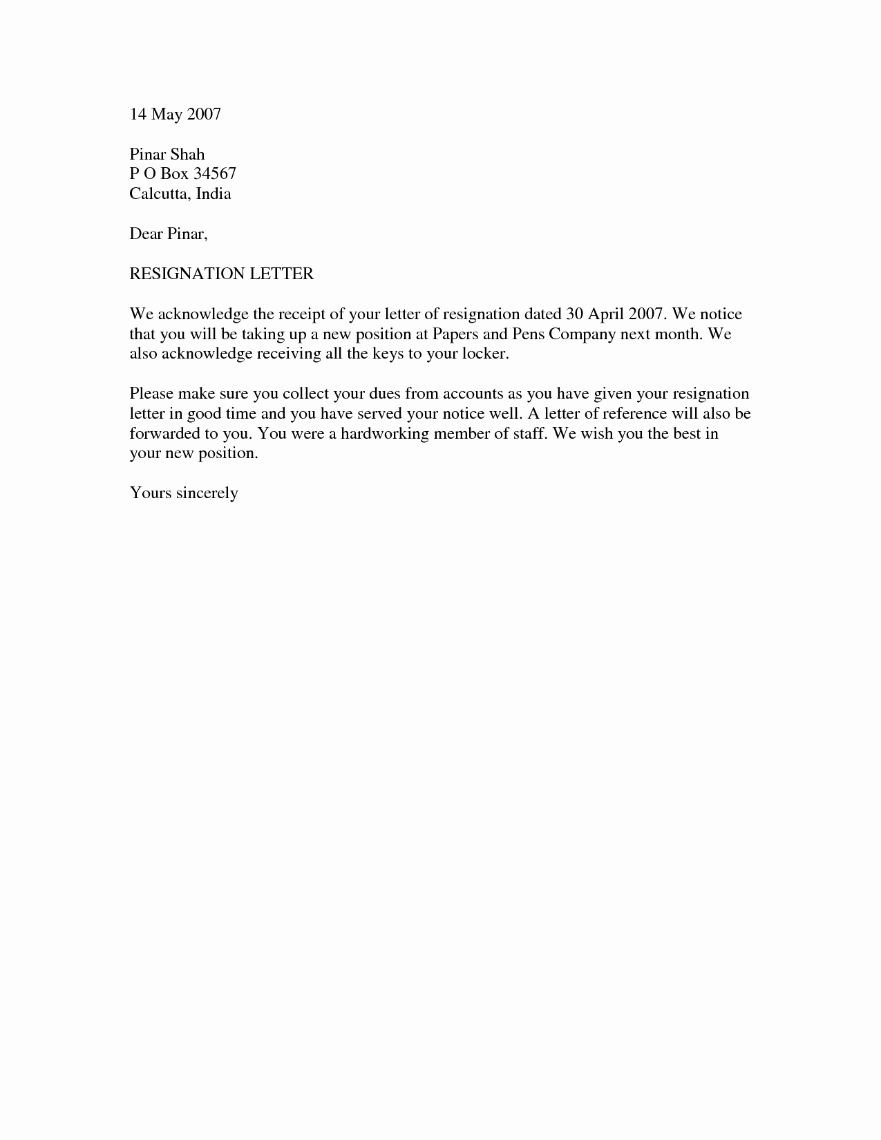 Resignation Letter format In Word Lovely Resignation Letter Template