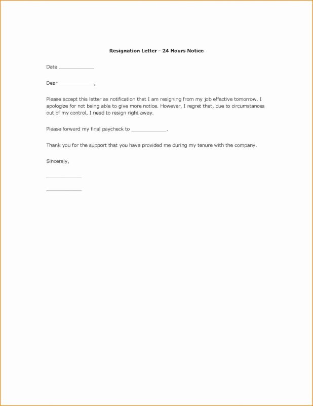 Resignation Letter In Word Best Of Employee Resign Letter