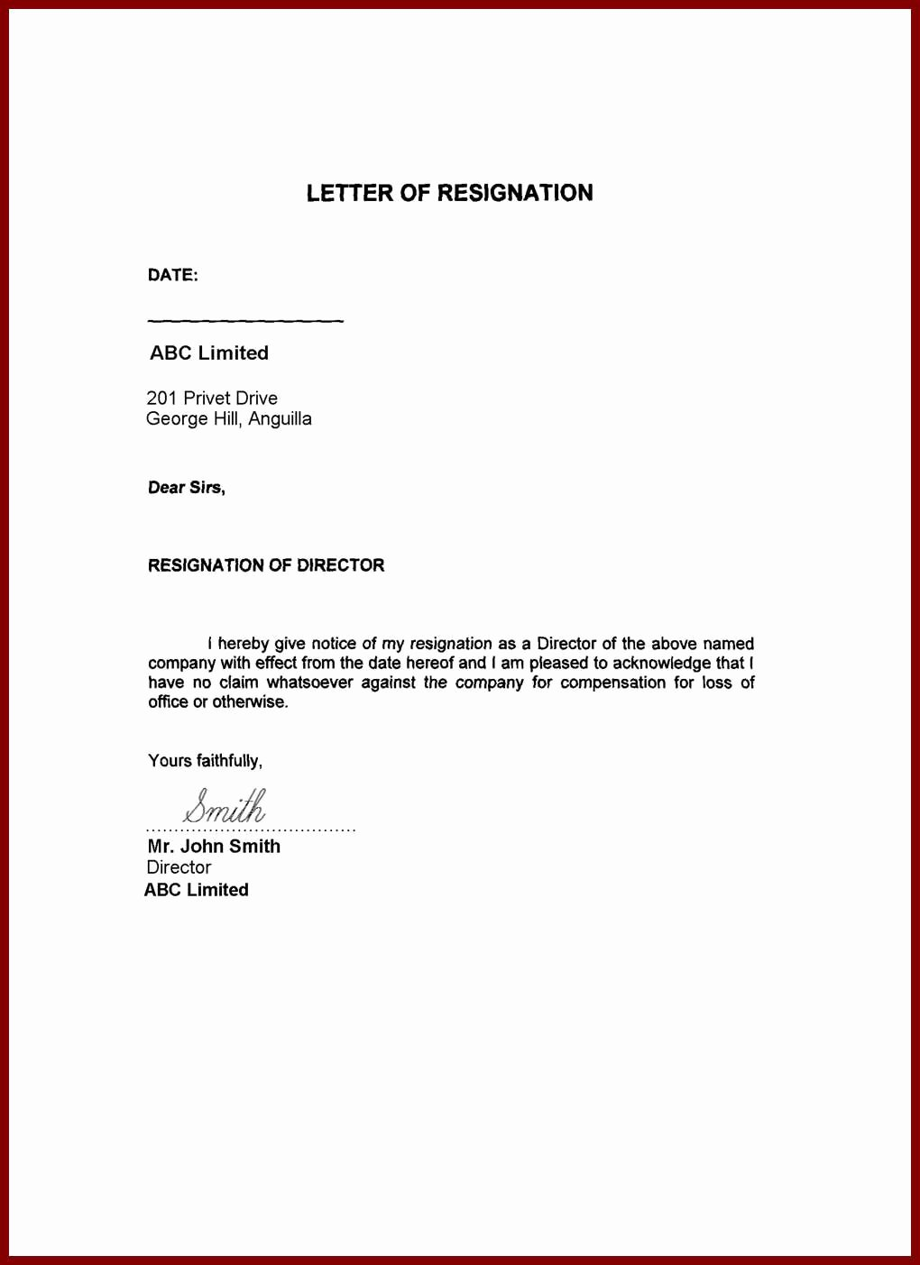 Resignation Letter In Word Inspirational Image Result for Resignation Letter Word format Family