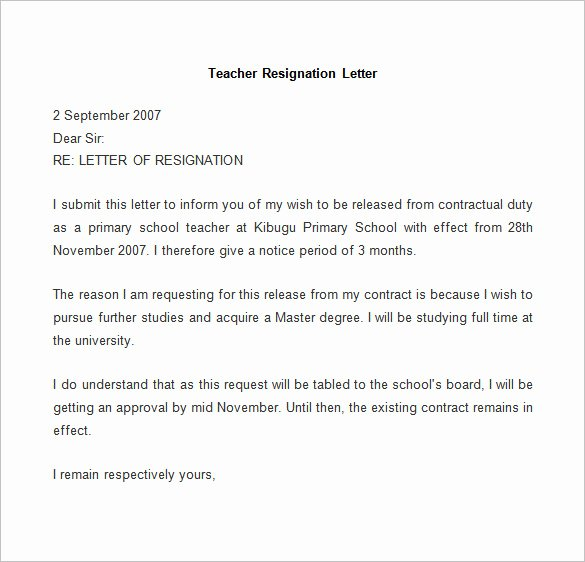 Resignation Letter In Word Unique Resignation Letter Template 25 Free Word Pdf Documents
