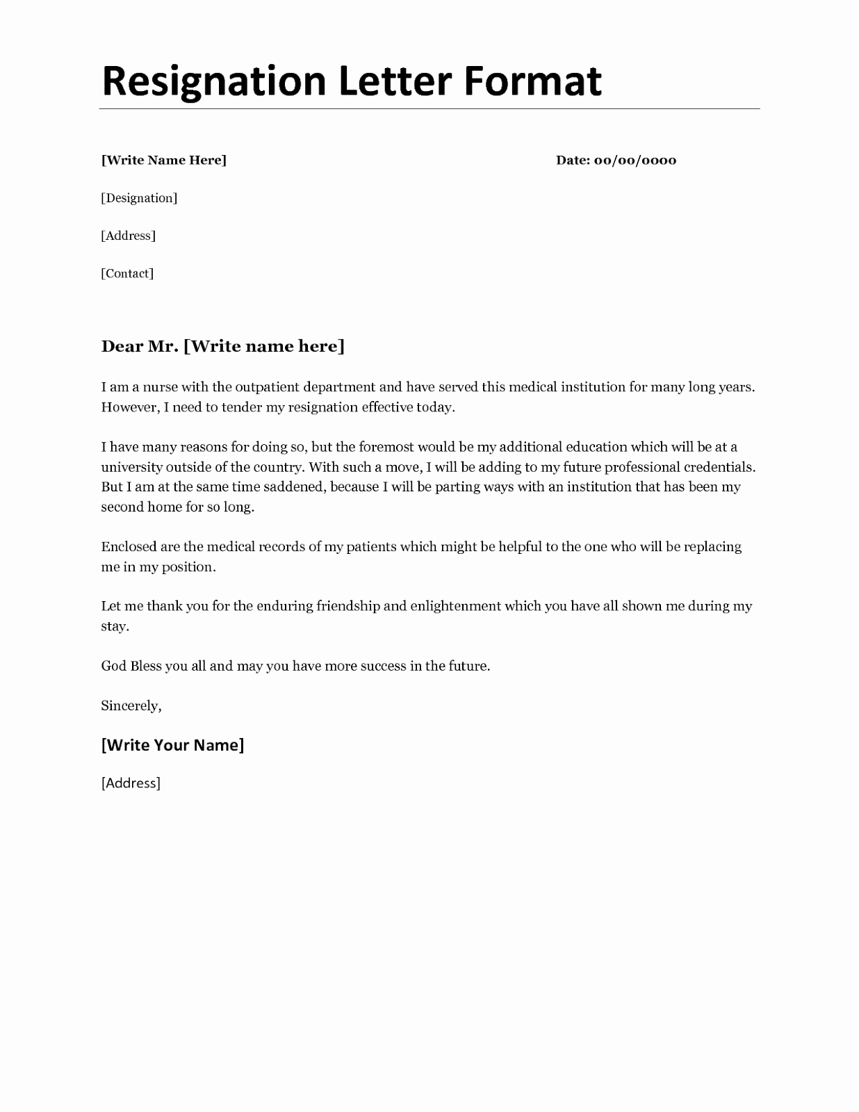 Resignation Letter Personal Reasons Fresh Resignation Letter format for Personal Reason Document Blogs