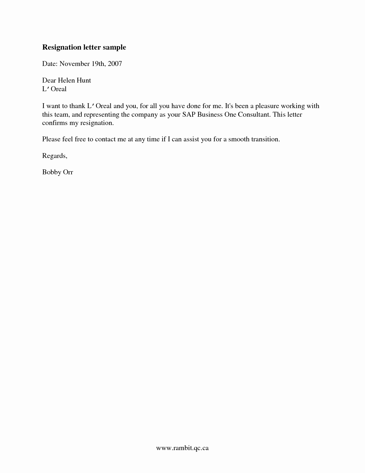 Resignation Letter Sample Free Beautiful Sample Of Good Resignation Letter Samplebusinessresume