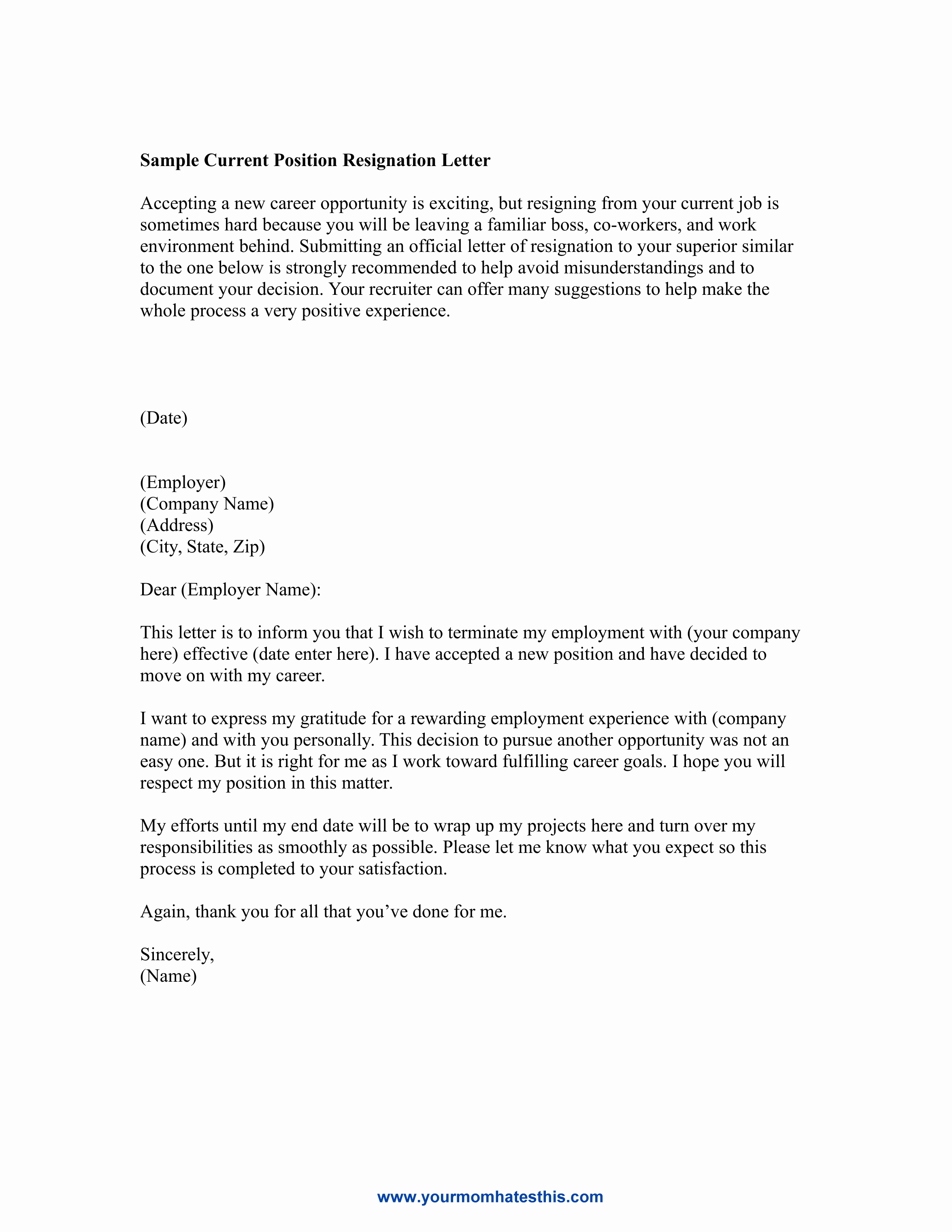Resignation Letter Sample Luxury Dos and Don'ts for A Resignation Letter