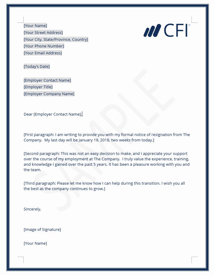 Resignation Letter Sample Unique Resignation Letter How to Write A Letter Of Resignation