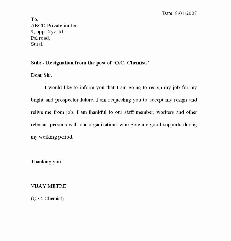 Resignation Letter Samples Luxury Fresh Jobs and Free Resume Samples for Jobs Resignation