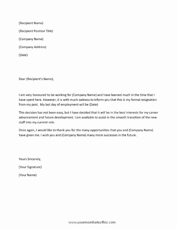 Resignation Letter Samples Unique Download Resignation Letters Pdf & Doc