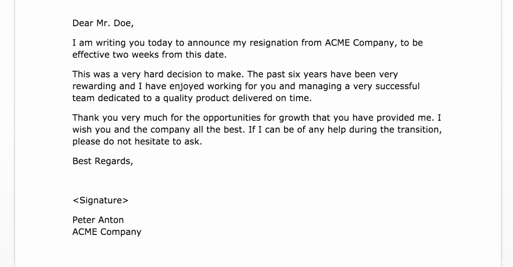 Resignation Letter Two Weeks Notice Luxury Two Weeks Notice Letters 2 Samples
