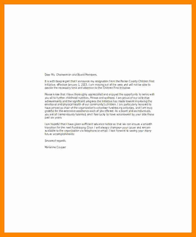 Resignation Letter Volunteer organization Awesome 8 Resignation Letter Volunteer organization