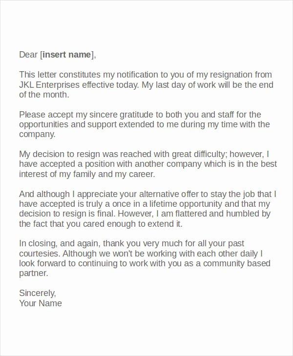 Resignation Letter Volunteer organization New Volunteer Resignation Letter Template 6 Free Word Pdf