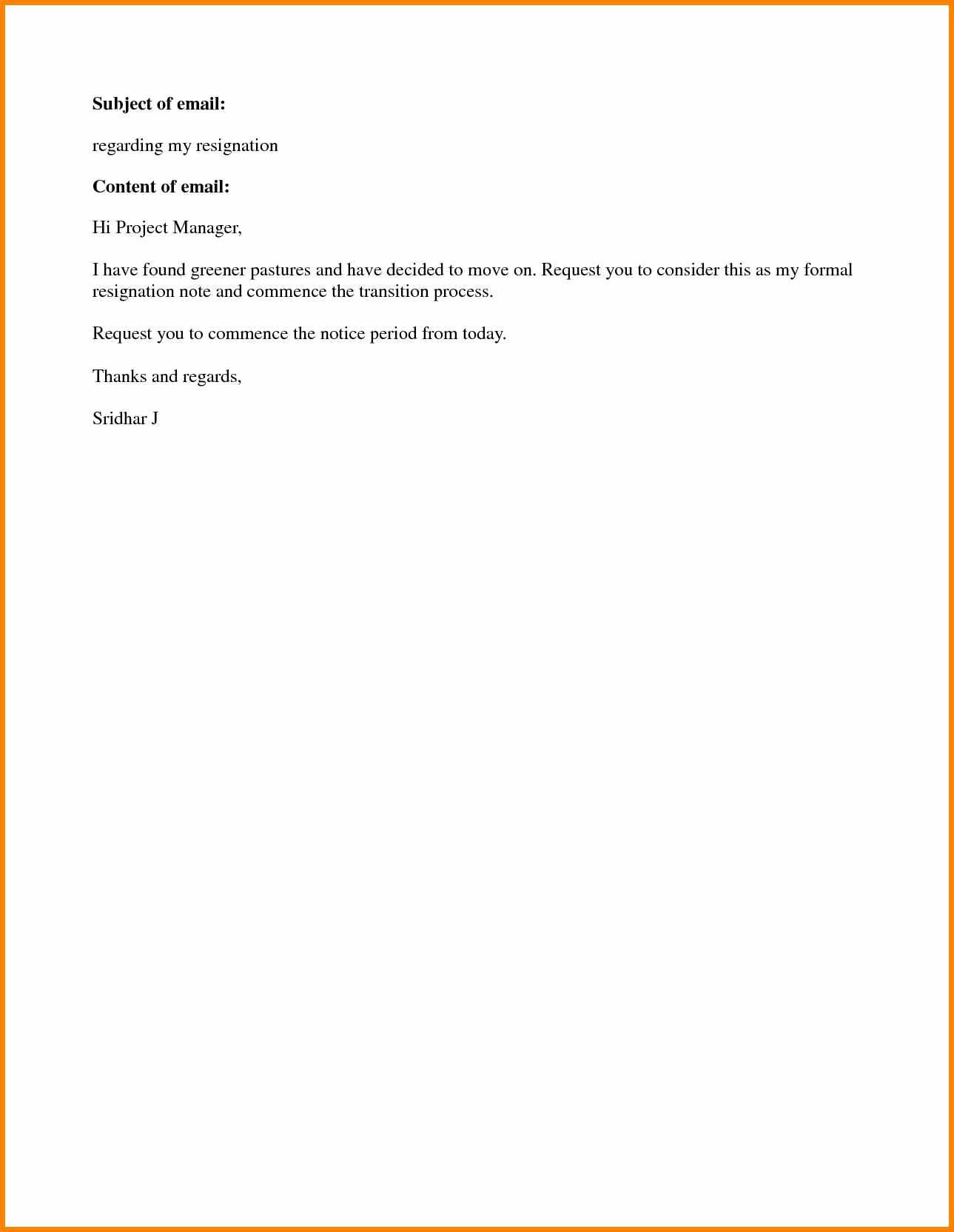 Resignation Letters Short Notice Awesome 7 Easy Resignation Letter format