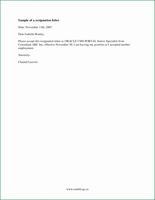 Resignation Letters Short Notice Inspirational Simple Resignation Letter