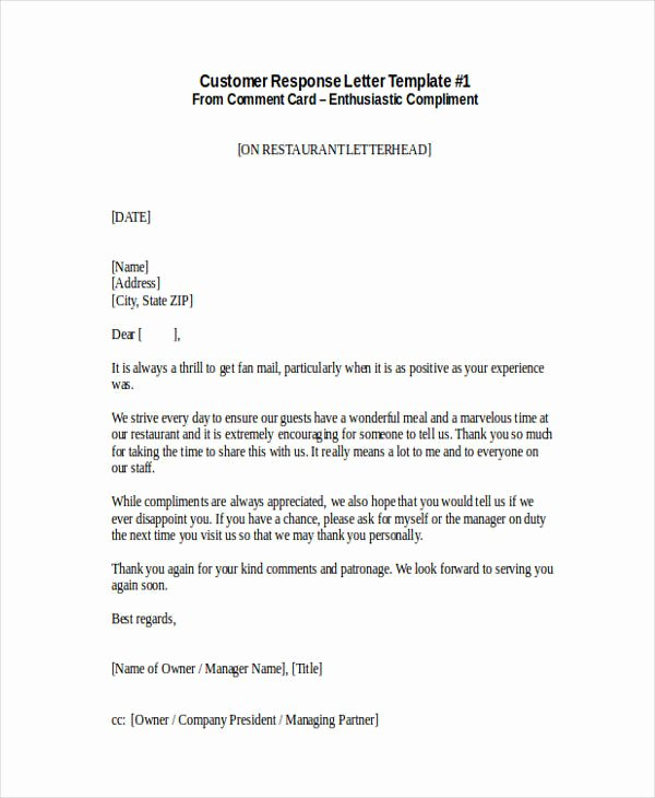 Responding to A Complaint Letter Elegant Free 34 Plaint Letter Examples & Samples In Pdf