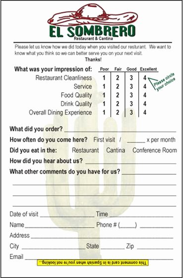 Restaurant Comment Card Example Beautiful 19 Best Restaurant Branding Posters Images On Pinterest