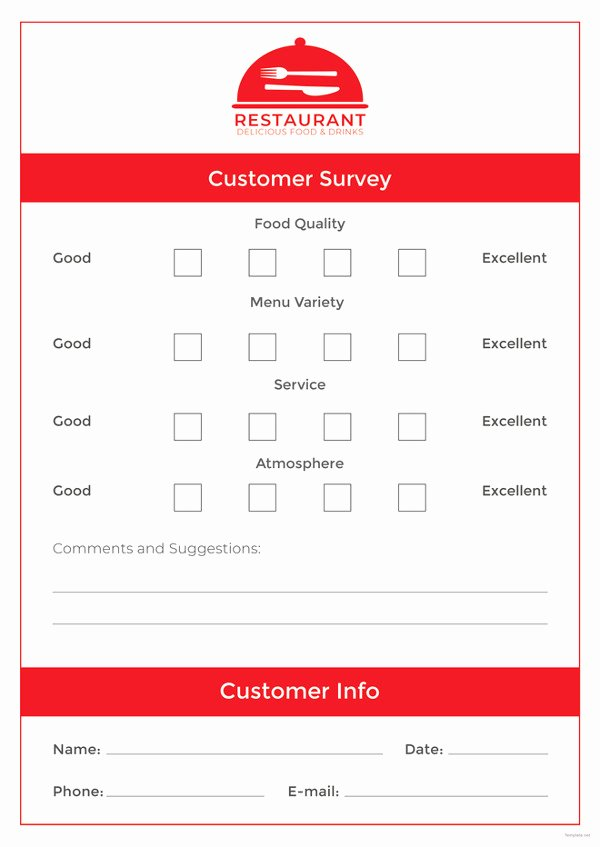 Restaurant Comment Card Example Lovely Ment Card Template – 15 Free Printable Sample Example