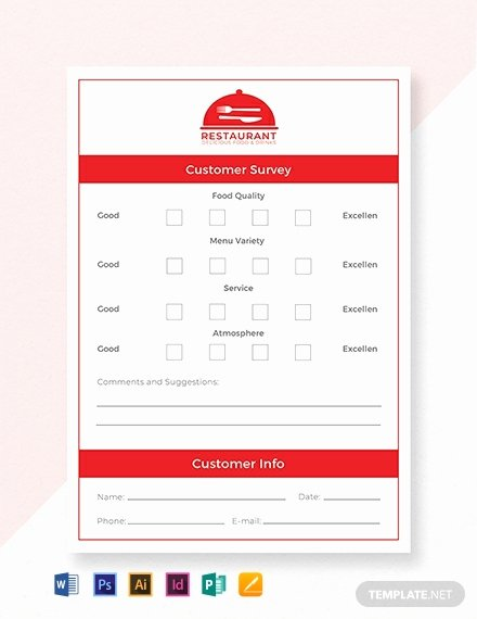 Restaurant Comment Card Example New Free Ment Card Template Word Psd Indesign
