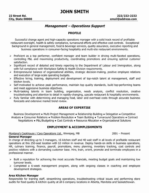 Restaurant General Manager Resume Example Best Of A Resume Template for A General Manager You Can