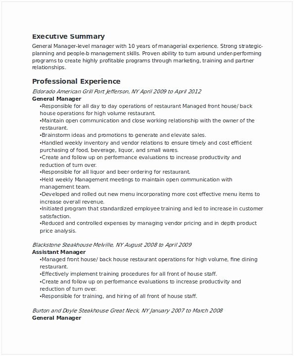 Restaurant General Manager Resume Example Inspirational Team Manager Resume Making Tips and Tricks You Should Know