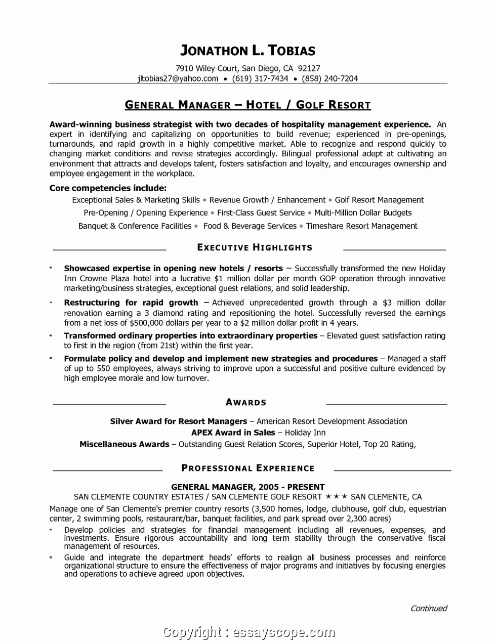 Restaurant General Manager Resume Example New Newest Best Restaurant General Manager Resume Restaurant