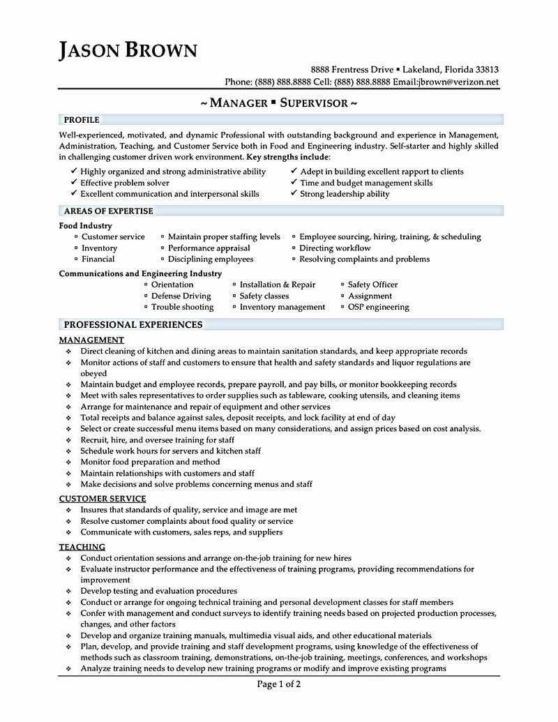 Restaurant General Manager Resume Example New Restaurant Manager Resume Will Ease Anyone who is Seeking