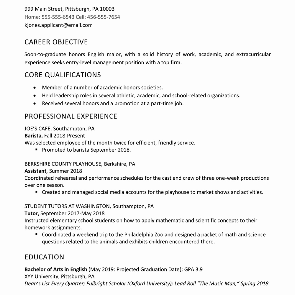 Resume after High School Awesome High School Graduate Resume Example Work Experience