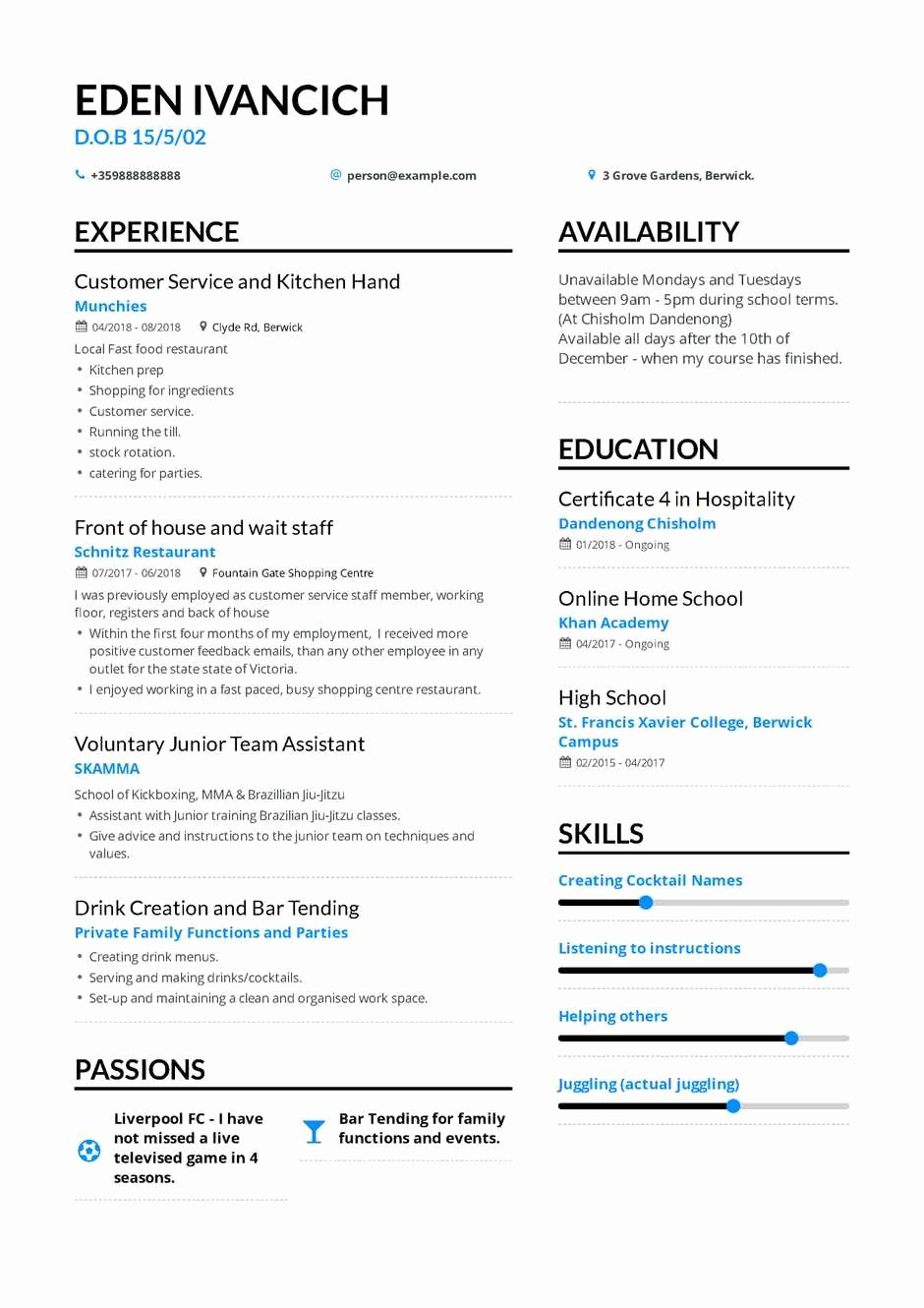 Resume after High School Awesome the Best 2019 Fresher Resume formats and Samples