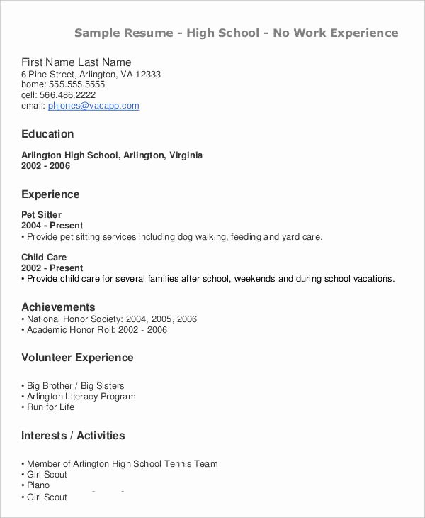 Resume after High School Beautiful 40 Modern Teacher Resume Templates Pdf Doc