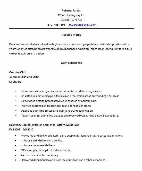 Resume after High School Lovely 24 Best Student Sample Resume Templates Wisestep